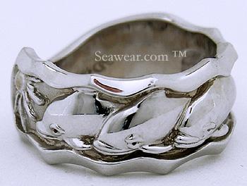 white gold steven douglas dolphin wedding ring - Dolphin Wedding Rings