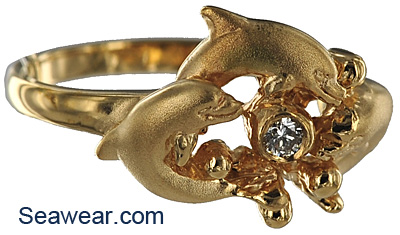 stock size 65 and app 45gms your jeweler sizes to you - Dolphin Wedding Rings