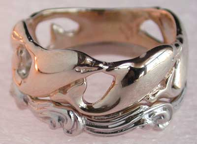 yellow and white gold dolphin ring - Dolphin Wedding Rings