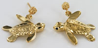 Peter Costello swimmer turtle earrings