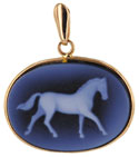 proud horse in agate cameo