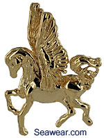 gold pegasus jewelry necklace pendant
