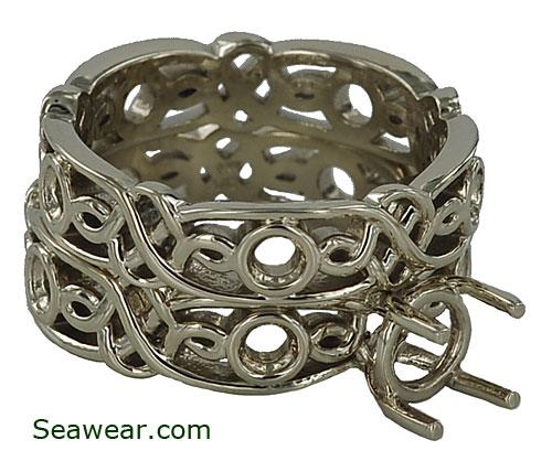 Viking Wedding Ring Sets: Viking Princess Wedding Set