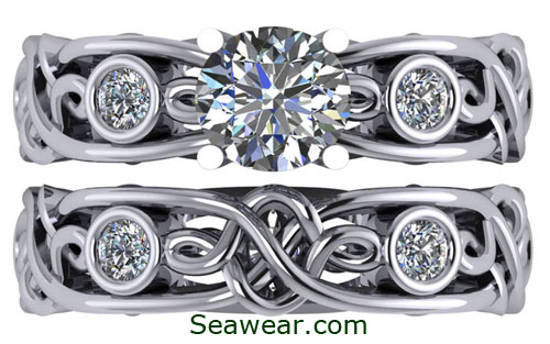 viking princess wedding set - Viking Wedding Rings
