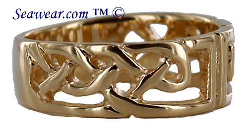 see thru Celtic knots band ring