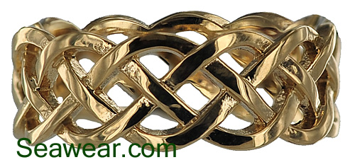 Celtic woven eternity knot ring