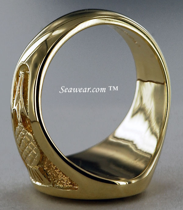 gold Scottish thistle ring