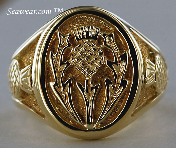 signet Thistle ring