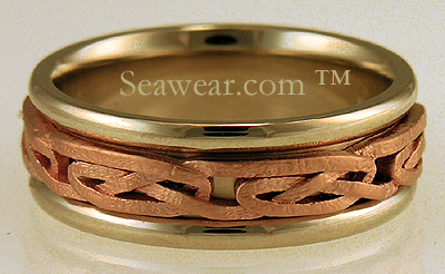 Celtic Tayside knot wedding ring
