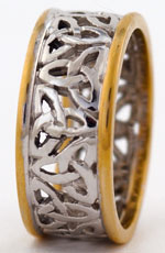 14kt two tone Celtic trinity knot band special