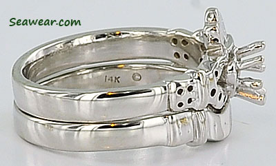 claddagh wedding set - Claddagh Wedding Ring Sets
