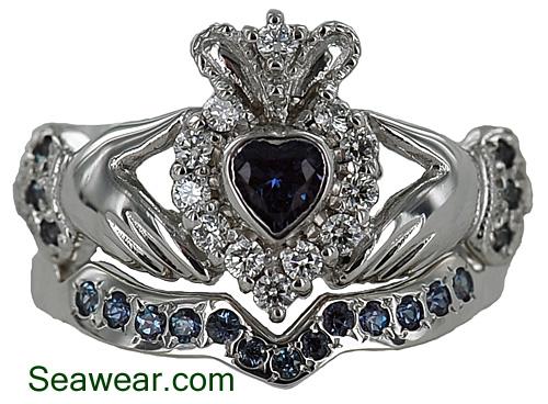 Ladies Alexandrite Claddagh Wedding Ring Set That Was Total Custom.
