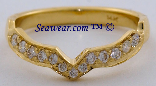 matching diamond band to Claddagh ring