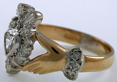 diamond Claddagh enagement ring