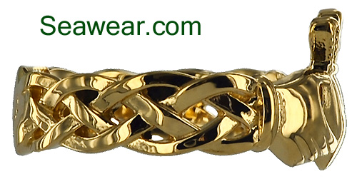 Celtic weave Claddagh ring