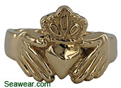 14k gold Southie Claddagh Ring