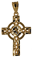 14kt filligree celtic cross