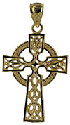 14k Celtic Cross filigree open knot