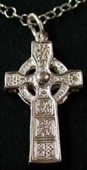 high cross of duleek sterling silver necklace