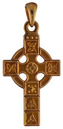 Dublin Assay Office Hallmarked Celtic panel cross