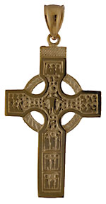 14kt scriptures cross