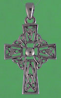 14kt white gold trinity knot cross