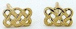 14k gold Celtic knot post earrings by Seawear.com