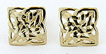 14k gold intricate Celtic knot post earrings by Seawear.com
