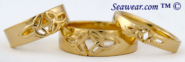 trinity knot wedding bands
