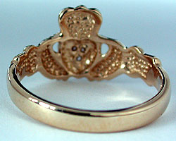 inside view Claddagh ring