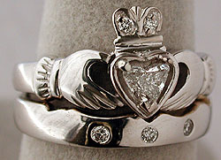 claddagh wedding ring set - Claddagh Wedding Ring Sets