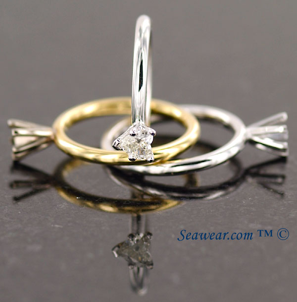 Claddagh diamond heart engagement rings