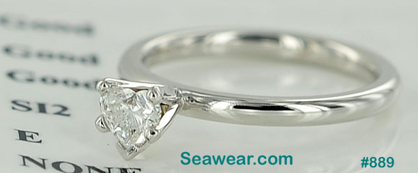 Claddagh diamond engagement ring SI/E