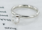 Claddagh engagement ring VVS/F