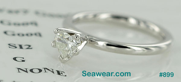 Claddagh diamond engagement ring SI2/G