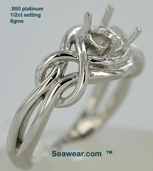 celtic knot engagement solitaire