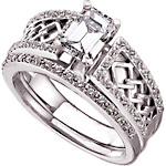 Celtic engagement ring wedding set