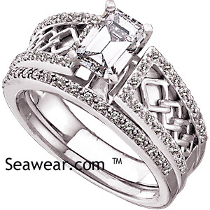 celtic diamond wedding set - Irish Wedding Ring Sets
