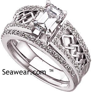 Celtic Diamond Wedding Set