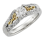 Trinity love knot engagement ring