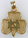 university of notre dame shamrock pendant