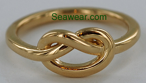 gold sailors love knot ring