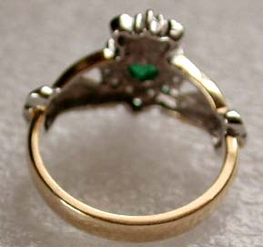 3mm wide band of the Claddagh engagement ring