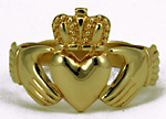 mens celtic claddagh ring size