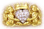 Cherub angel Claddagh ring