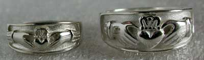 sterling silver heavy claddagh wedding rings