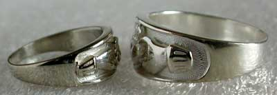 silver carved claddagh rings