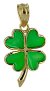 enamel four leaf clover shamrock jewelry