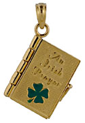 14kt Irish Prayer Book charm