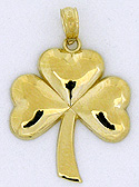 14kt sharmrock necklace pendant